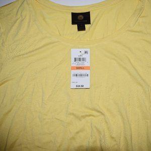 JM Short Sleeve Flowy Yellow Top